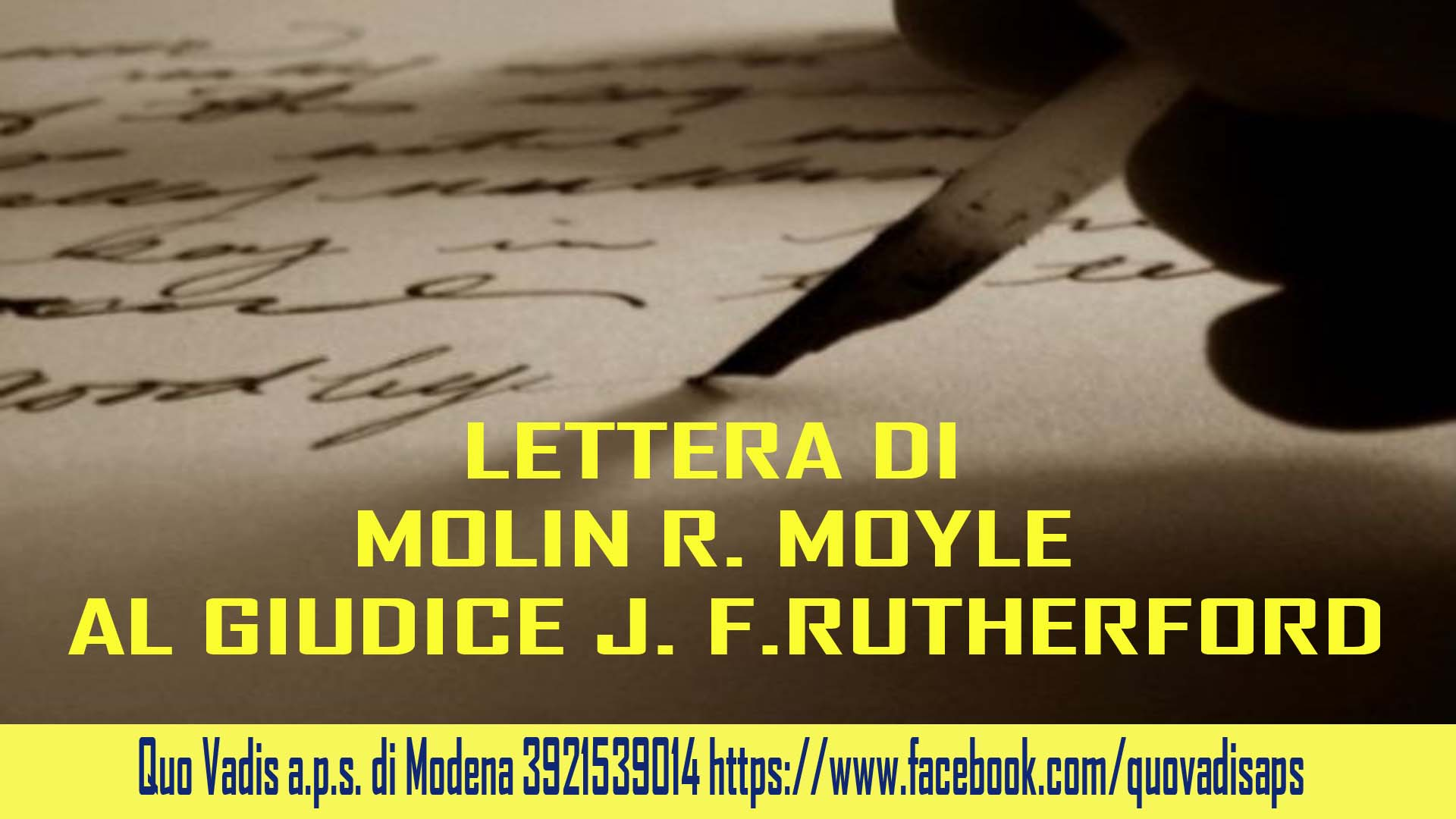LETTERA A RUTTERFORD