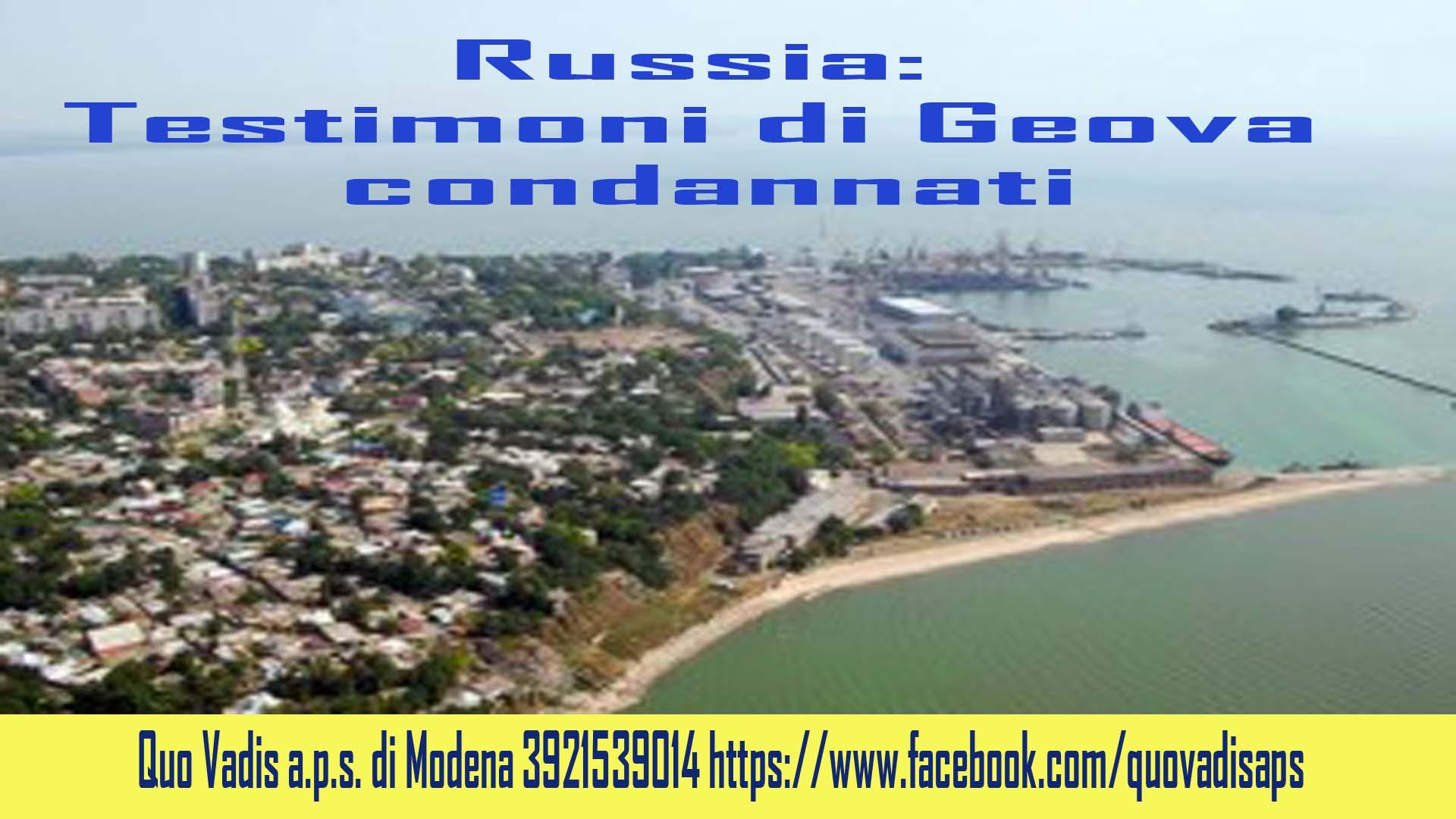 RUSSIA TDG CONDANNATI