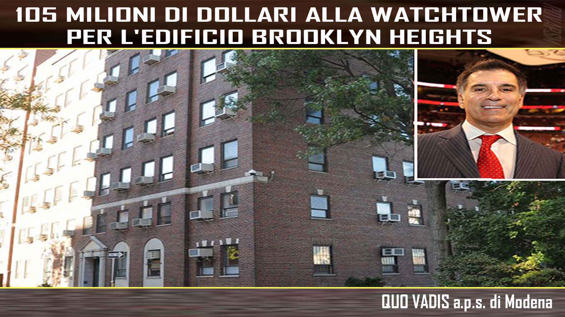 Rocco politi 105 milioni di dollari alla watchtower per for Milioni di dollari piantine