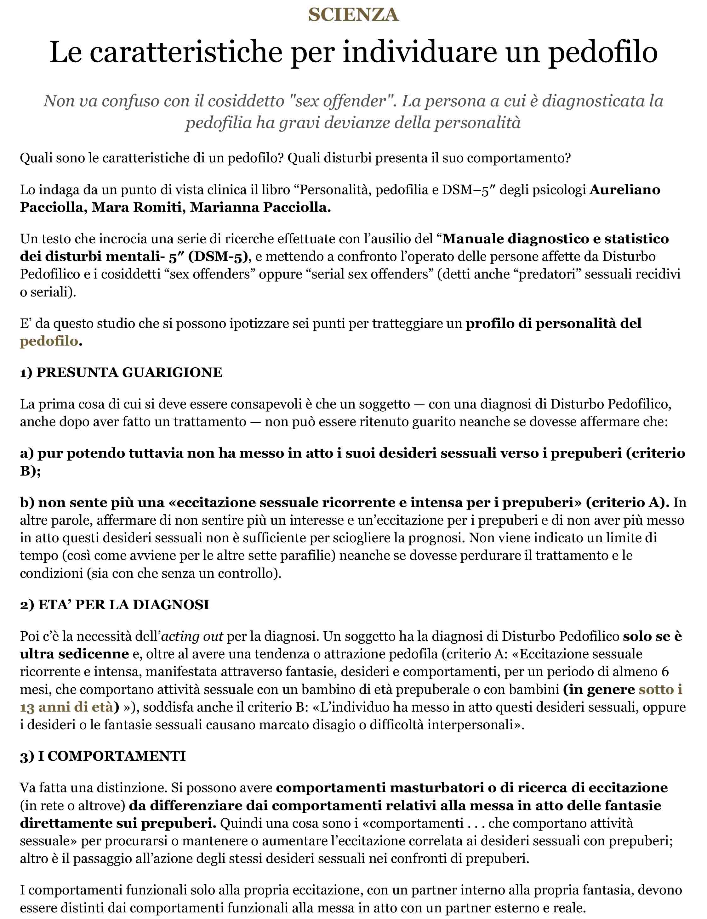 Le caratteristiche per individuare un pedofilo - Scienza, Stile di vita - Aleteia-1